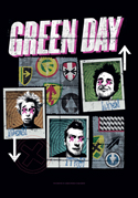 Green Day - Uno Dos Tre - Fabric Music Poster