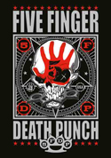 Five Finger Death Punch - Mercenary - Fabric Music Poster