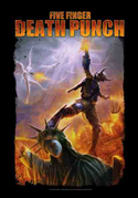 Five Finger Death Punch - Battle of the God - Fabric Music Poster